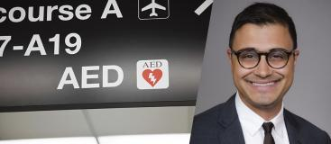 Neal Chatterjee co authors a newly published paper in the American Heart Journal detailing cardiac arrest on airplanes.